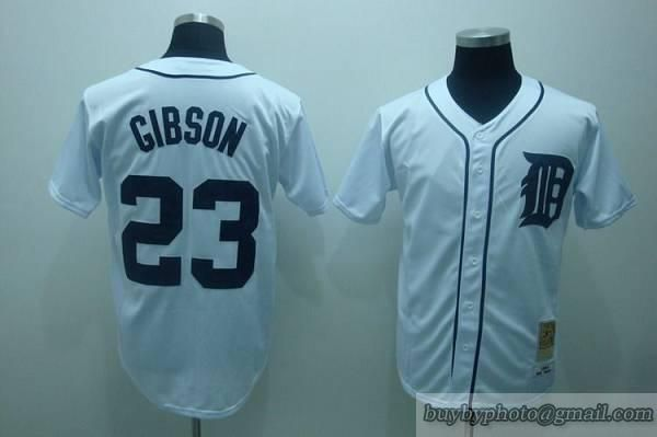mitchell and ness tigers 23 kirk gibson embroidered white throwback mlb jersey