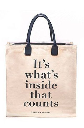 dbe5edc8da74 It's Whats Inside the Bag that Counts #tommyhilfiger #quote ...