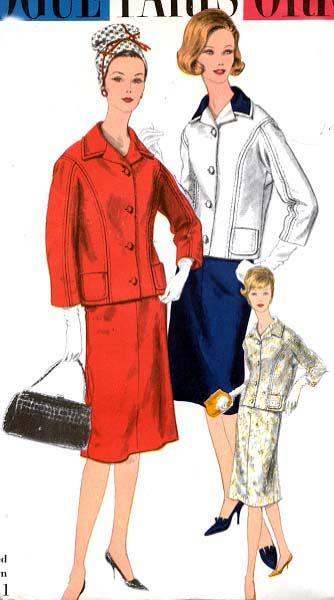 Vogue Paris Original 1481 by Jacques Griffe   1960 Suit   Retro ...
