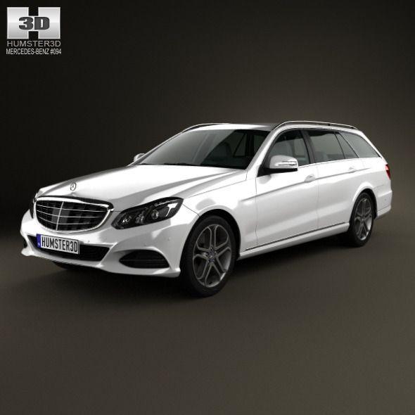Mercedes-Benz E-Class Estate (W212) 2014. Car 3D Model