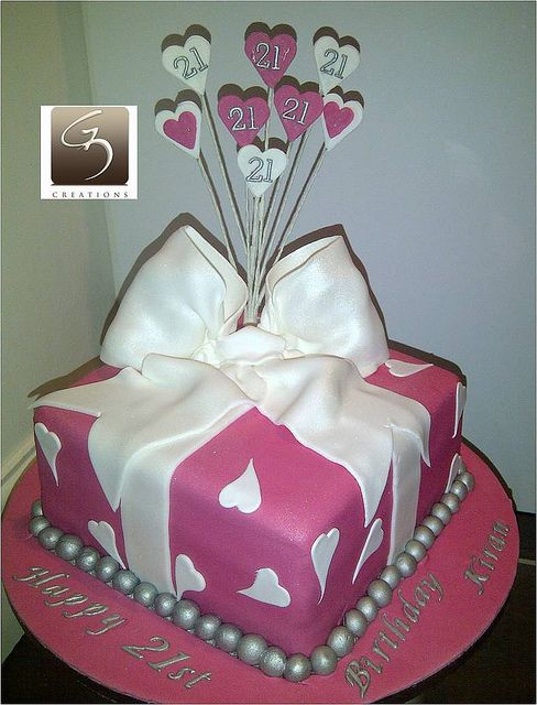 Groovy 21St Present Box Cake With Images 21St Birthday Cakes Tiered Funny Birthday Cards Online Alyptdamsfinfo