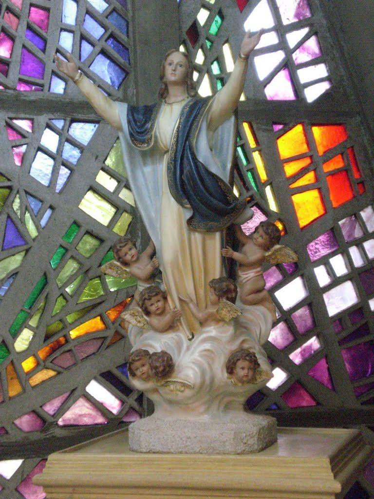 Vitrais E Imagem Da Catedral Nossa Senhora Da Gl 243 Ria