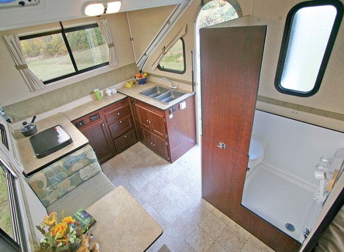 9 amusing pop up campers with bathrooms ideas image camping rh pinterest com pop up camper with full bathroom Modern Pop Up Campers