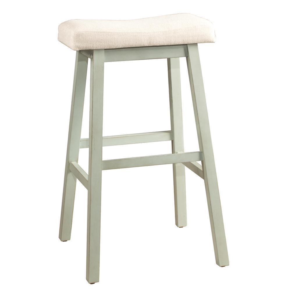 Hillsdale Furniture Moreno 24 In Blue Gray Non Swivel Backless