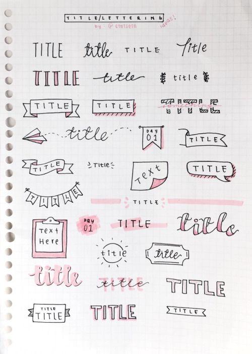 Title lettertypes | Krabbels | Pinterest | Apuntes, Caligrafía y Letras