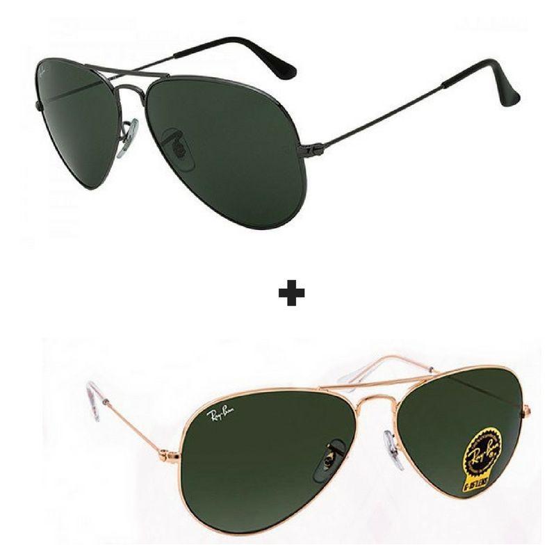 4386ee14a83e5 2 Oculos De Sol Masculino - Feminino Aviador Promoção 50%off ...