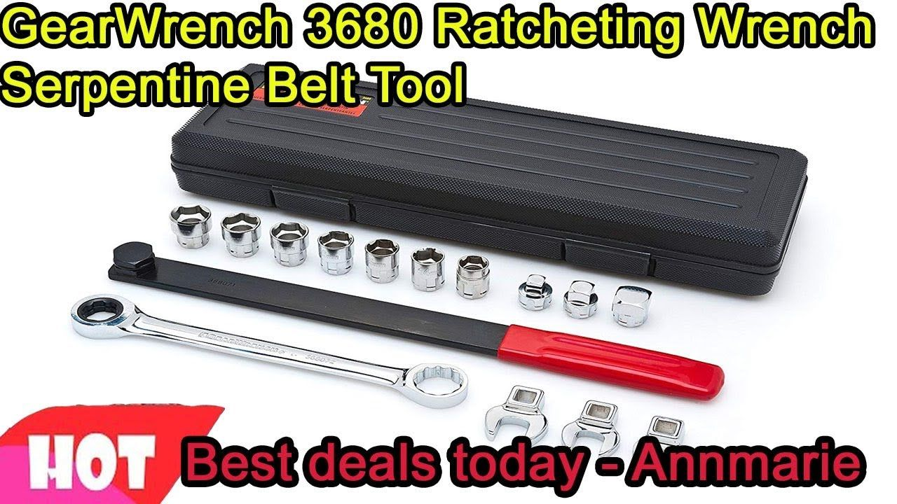 GearWrench 3680 Ratcheting Wrench Serpentine Belt Tool