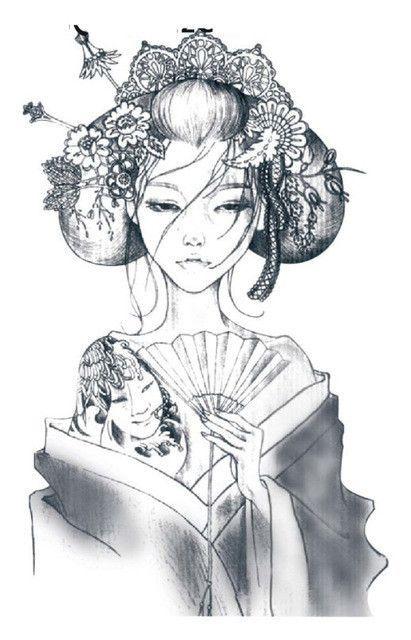 4b4907445 Oriental Beautiful Japanese Girl Body Art Tattoo | Tattoos :3 | Girl ...