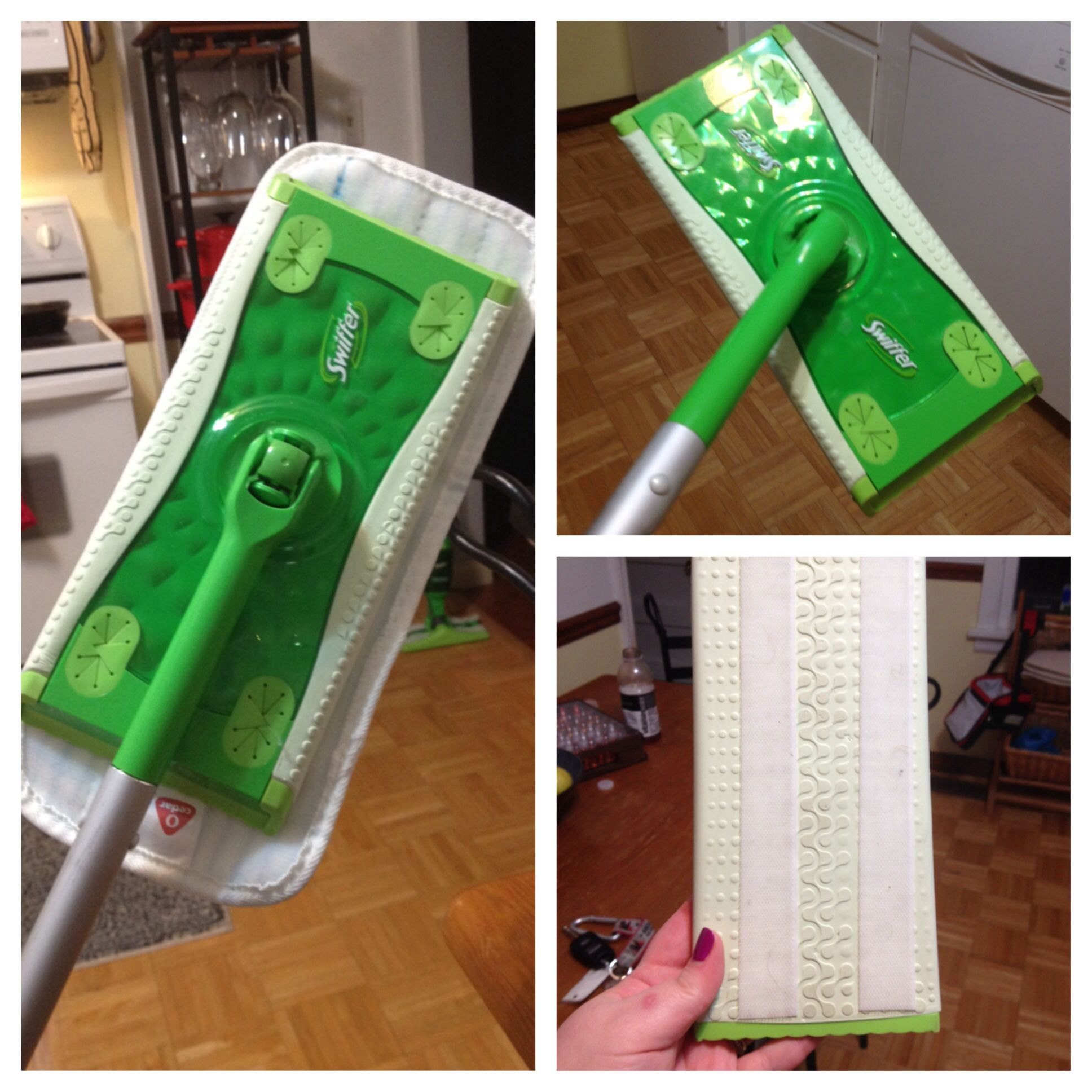 How To Turn Your Swiffer Mop Into A Microfiber Mop Add Some Velcro Strips To The Bottom Of Your Swiffer Buy A Swiffer Microfiber Mops Diy Cleaning Products
