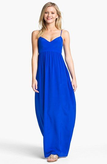 7e5c855c917 Great option for summer dates. Best on taller frames. Amanda Uprichard Silk Maxi  Dress available at #Nordstrom