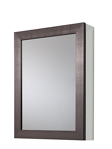 Glacier Bay 20 In. X 26 In Framed Aluminum Recessed Or Surface Mount  Bathroom Medicine Cabinet In Coppered Pewter At The Home Depot   Mobile