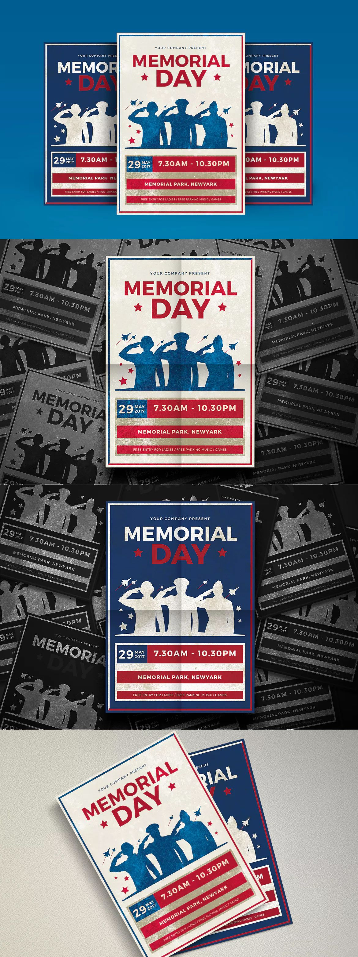 Modern Memorial Day Templates Ai Psd  Flyer Templates