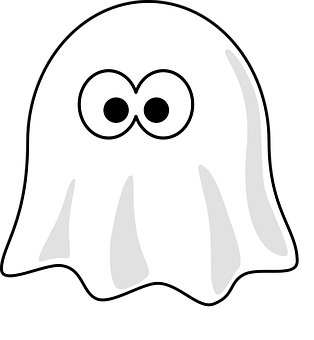 Ghost, Halloween, Spooky, Fear Ghost cartoon, Monster