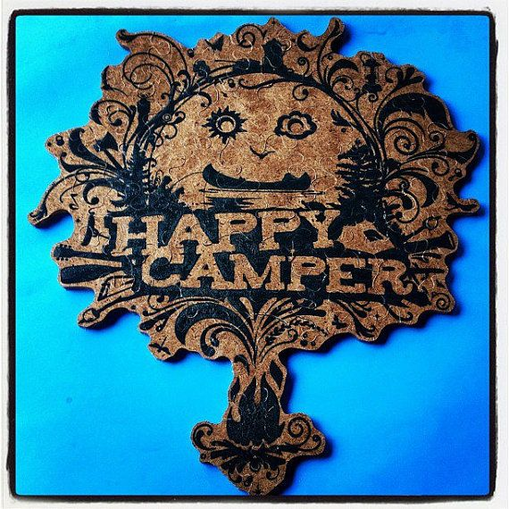 Happy Camper Handmade Silk Screened and Handcut by PasleysPuzzles, $69.95