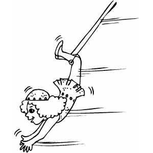 free circus performer coloring sheets | Flying Acrobat ...