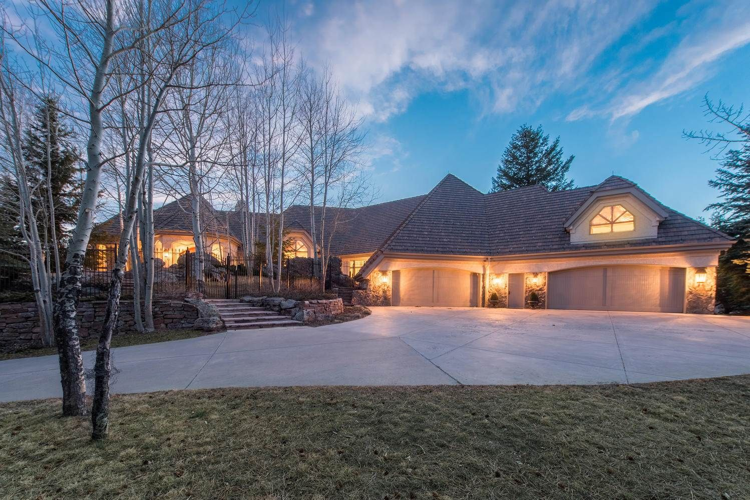 Extraordinary property of the day majestic foothills residence with