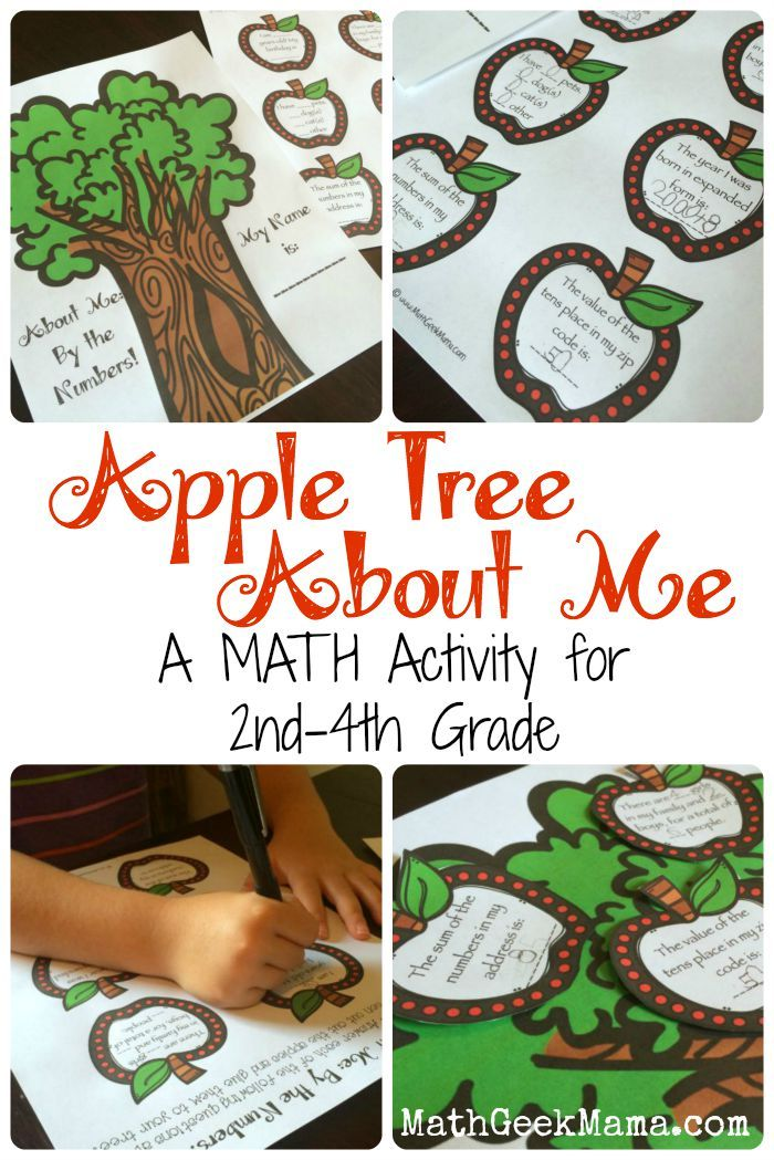 Apple Tree About Me! {A Back to School Math Activity} | After School ...