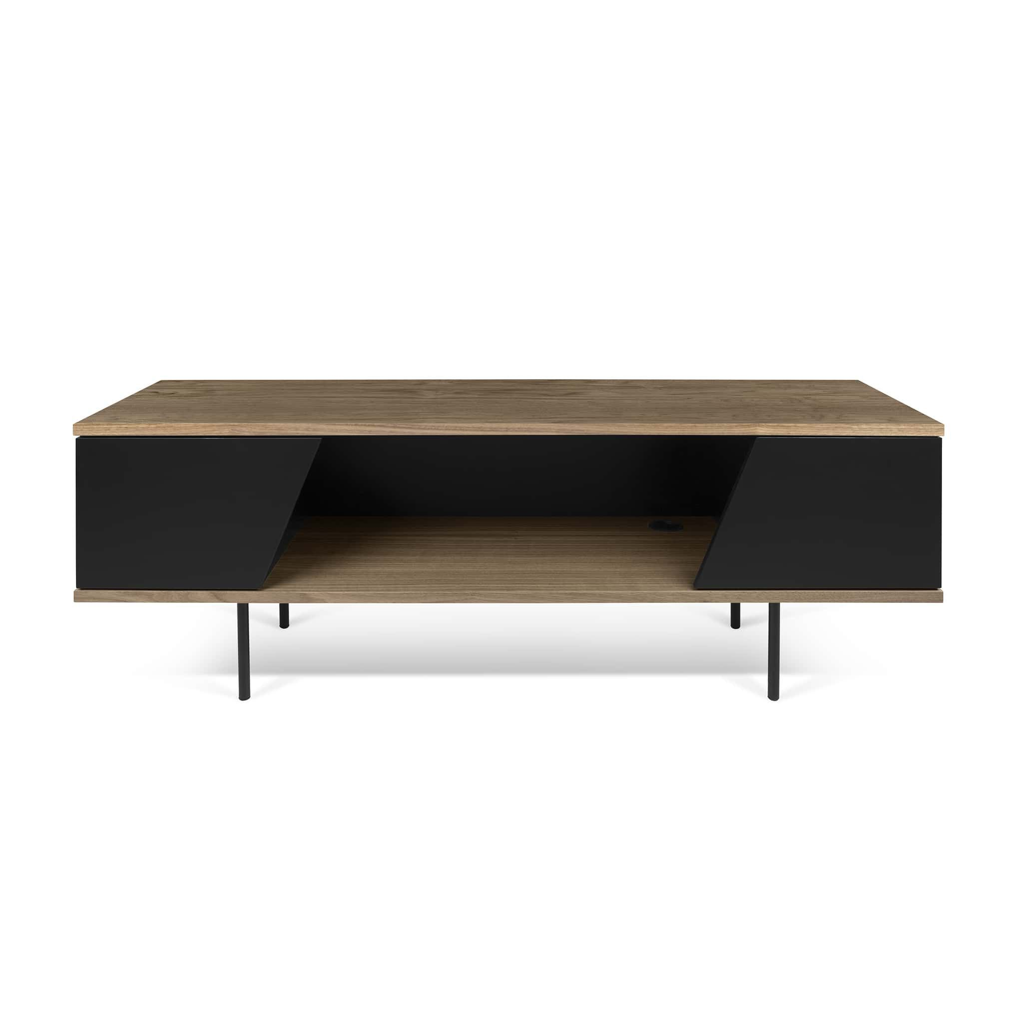 Tema Dixie Tv Table Walnut Black Tv Tables Matte Black And  # Meuble Tv Noir Alinea
