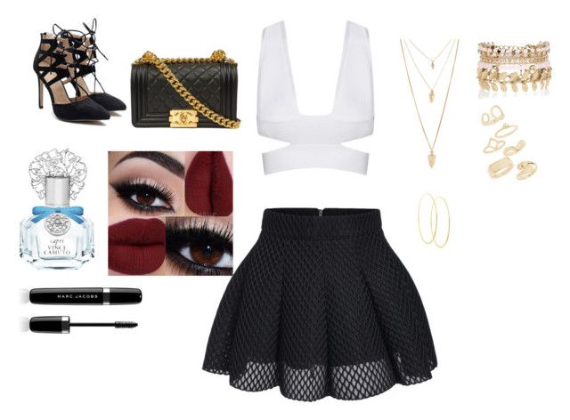 """""""#niver"""" by larissa-castro-i ❤ liked on Polyvore featuring Vince Camuto, Marc Jacobs, Forever 21, River Island, Topshop and Lana"""