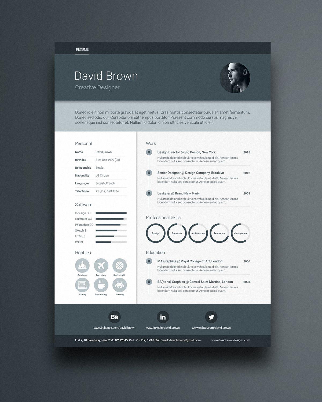 Free Material Design Resume Template Www Ikono Me Resume Design Free Resume Design Creative Creative Resume