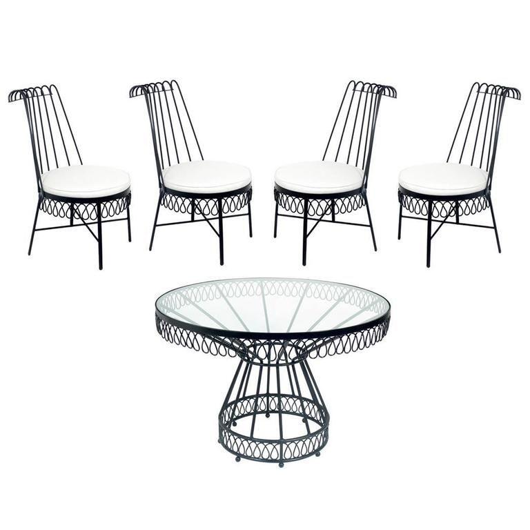 Elegant Cap d\'Ail Dining Set Attributed to Mathieu Matégot | MUEBLES ...