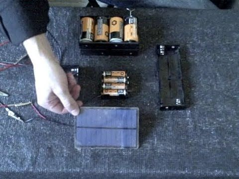 Homemade Battery Charger Solar Powered Fast Charge Aa Aaa C D Sizes Simple Diy Small Solar Panels Homemade Solar Panels Solar Power