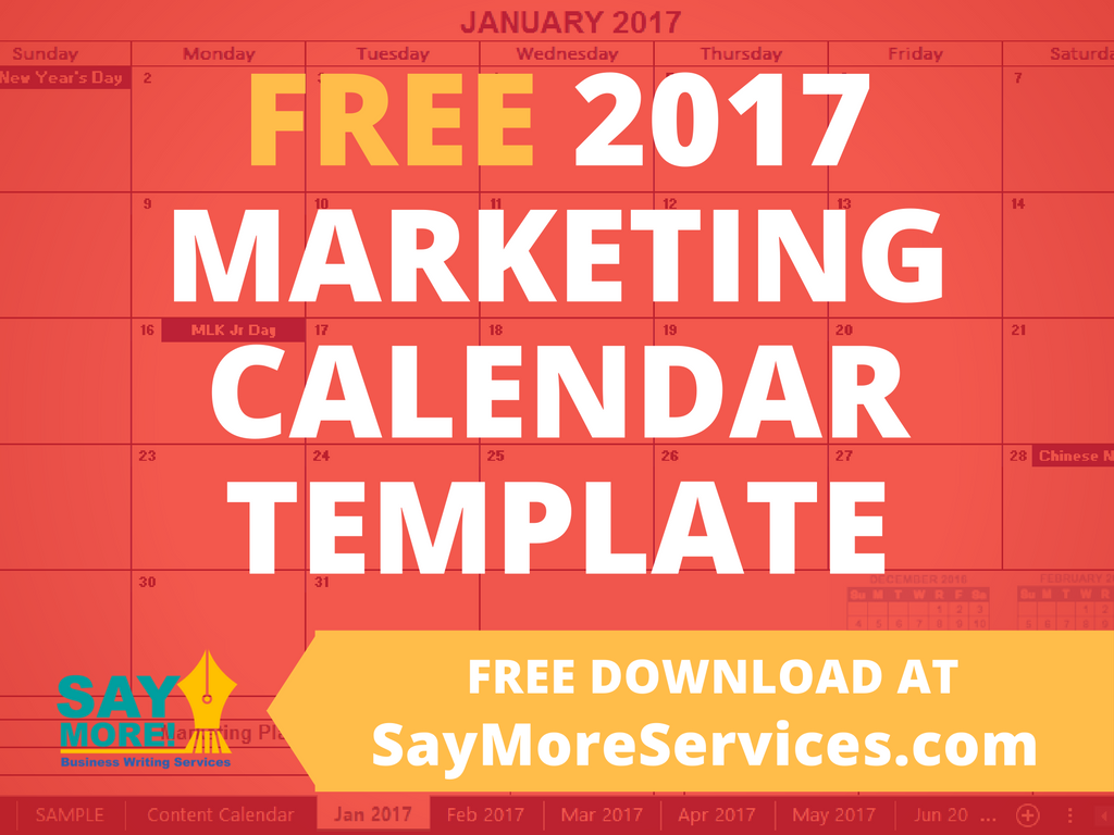 Saymoreservices Download Your Free 2017 Marketing Calendar