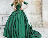 Items similar to Miranda Medieval Corset Gown Silk and Chiffon Custom on Etsy