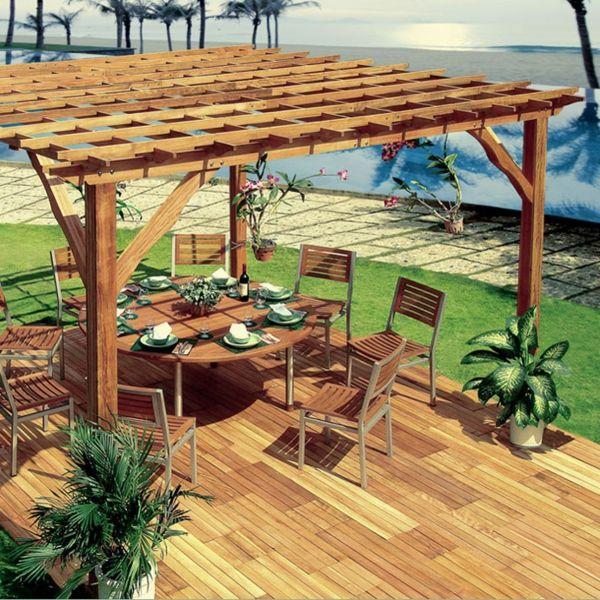 modern sitzecke essbereich holz Pergola bauen | Garten | Pinterest