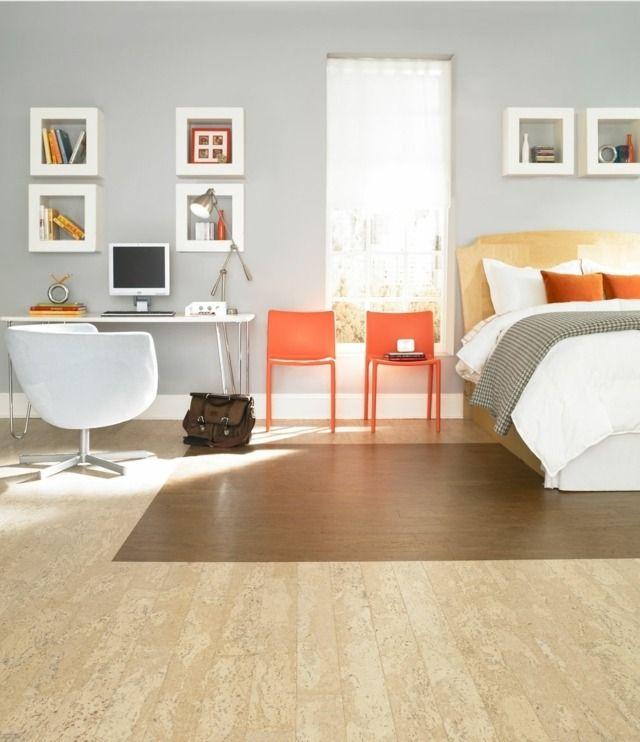 Korkboden Ideen Wohnzimmer Einfamilienhaus Einfamilienhaus Haus - fliesen wohnzimmer ideen
