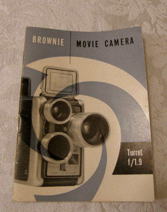 Kodak Brownie Movie Camera Manual Turret f/19 by WhiteShepherd, $5.75