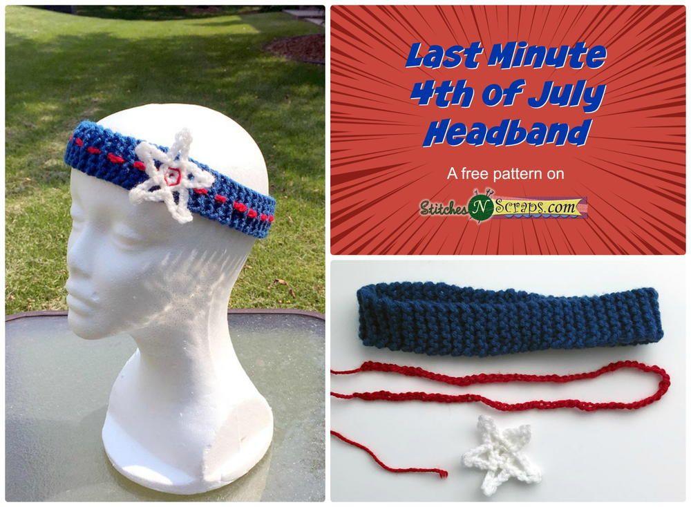 Last Minute 4th of July Headband