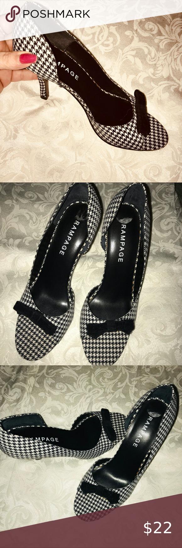 Rampage Black checkered High Heels. New Rampage Bl