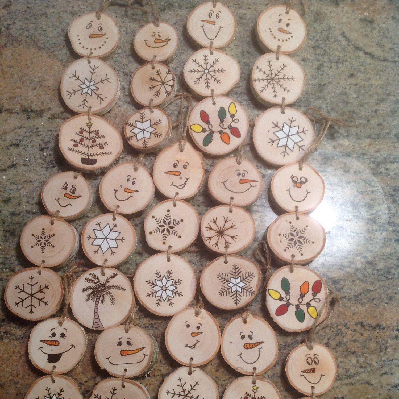 Snowmen Christmas Wood Crafts Diy Christmas Ornaments Christmas Ornaments