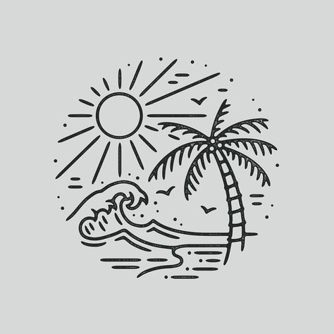 "Photo of Liam Ashurst on Instagram: ""☀️🏝 #graphicdesign #design #art #artwork #drawing #handdrawn #illustration #tattoo #slowroastedco #blackwork #blackworknow"""