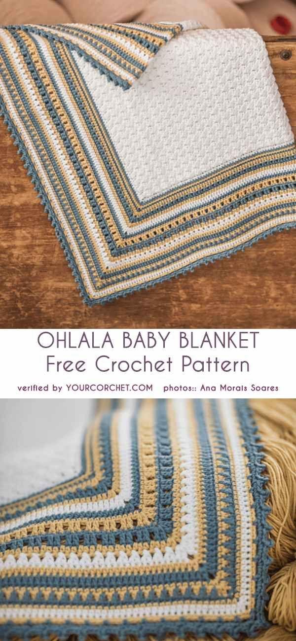 Ohlala Baby Blanket Free Crochet Pattern   Häkeln   Pinterest ...