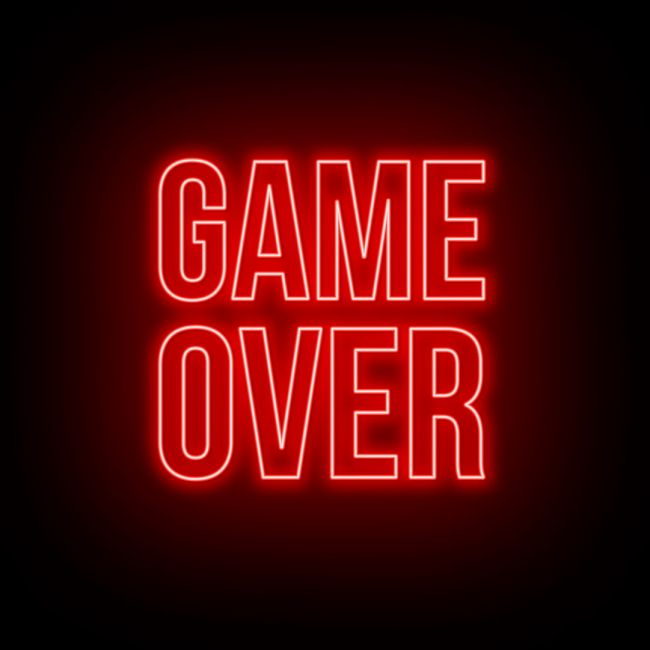 Game Over Text Led Neon Sign Neon Signs Neon Quotes Neon Aesthetic