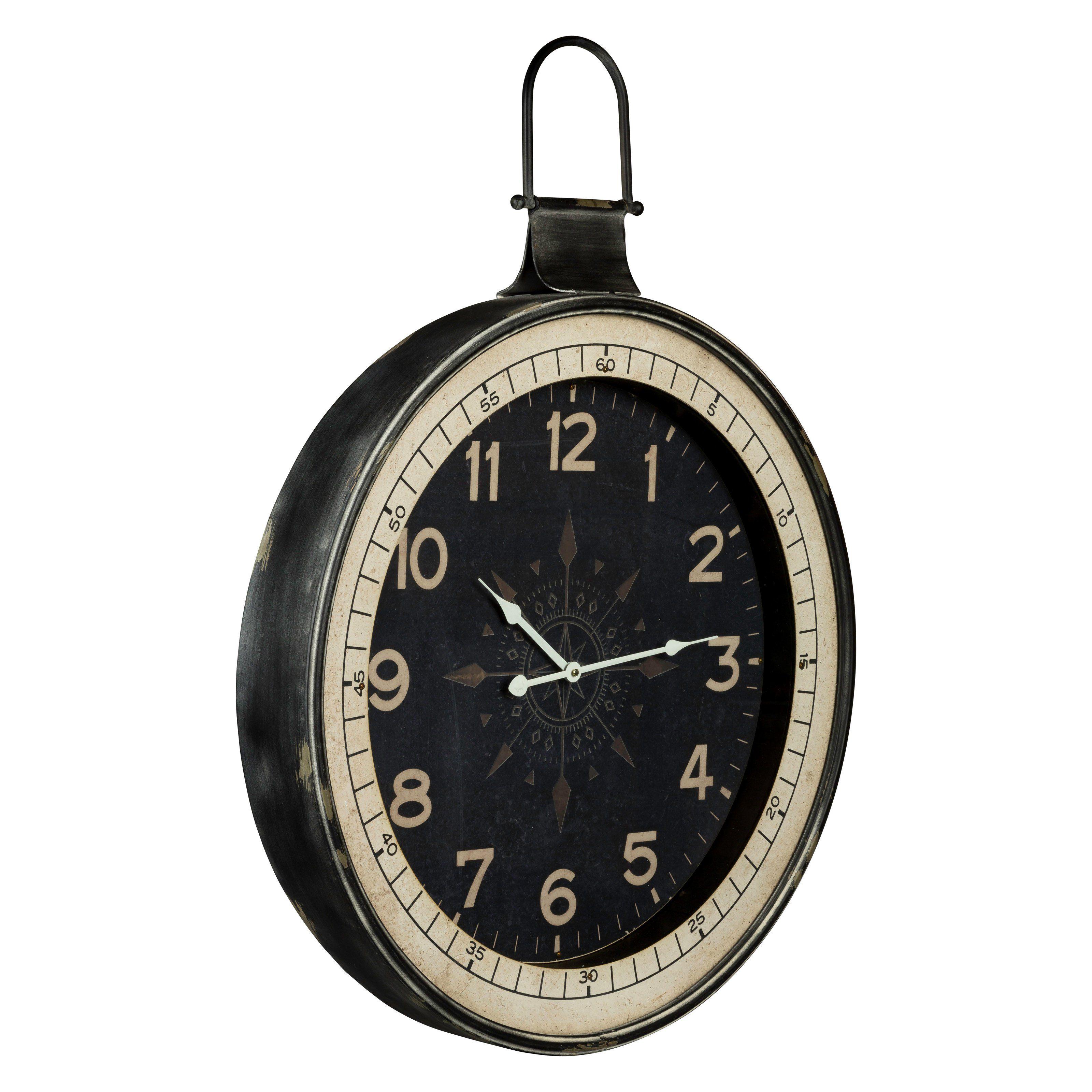 Zocha 24 In Wall Clock From Hayneedle Com Black Oversized