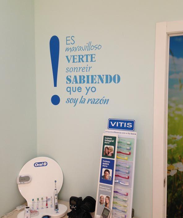 Vinilo para cl nica dental partition and design vinyl - Decoracion clinica dental ...
