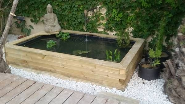 un projet en bout de terrasse Gardening Pinterest Pond - terrasse bois avec bassin