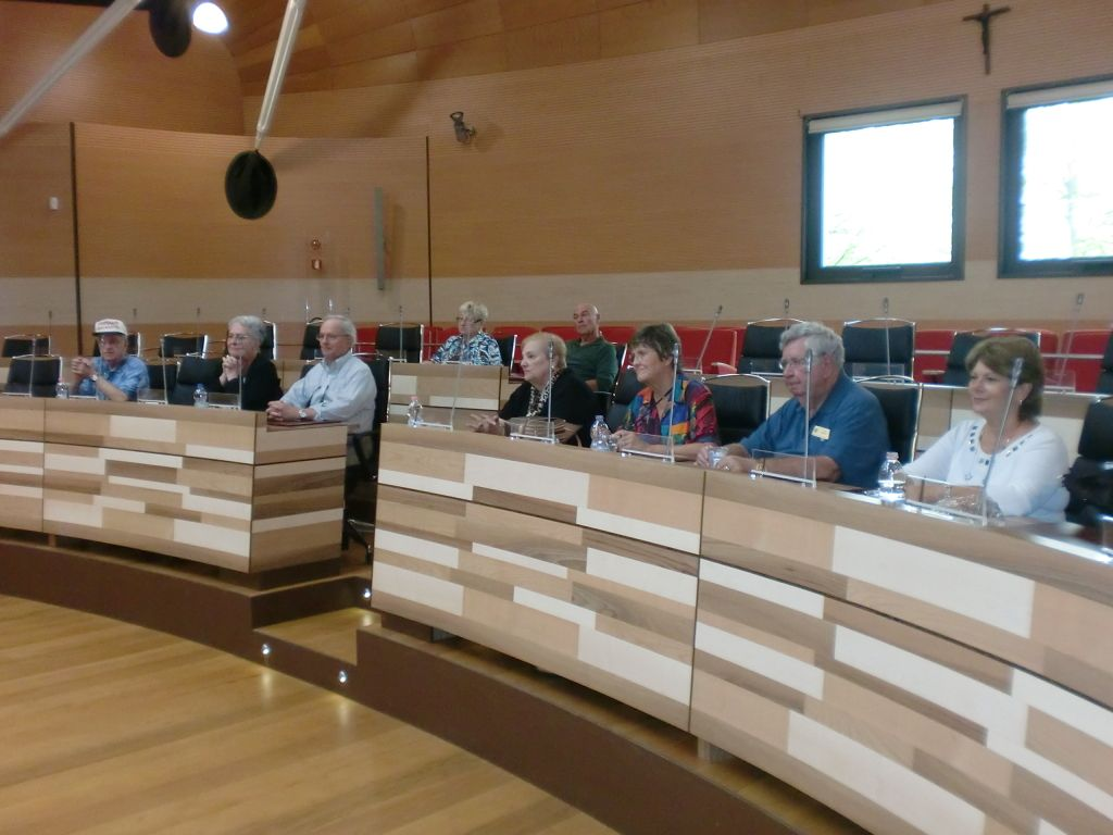 Alderman Carla Puppinato led discussion with the Sarasota Sister Cities delegation in the Sant' Artemio Government Complex in Treviso Province, Italy