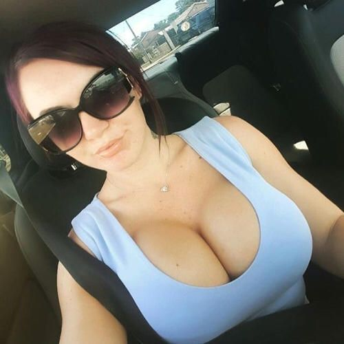 Busty babe glasses