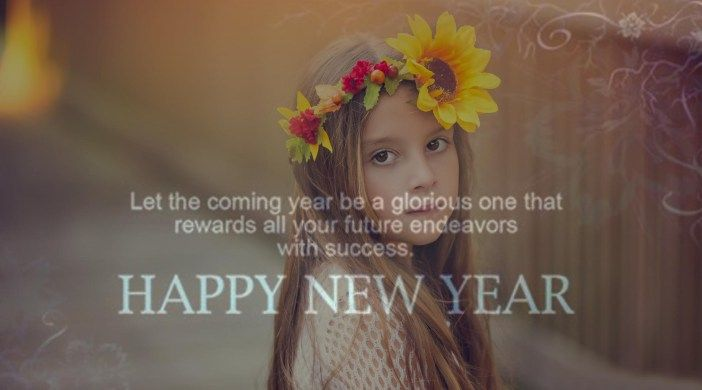 Happy New Year 2017 Cute Girl Wallpapers