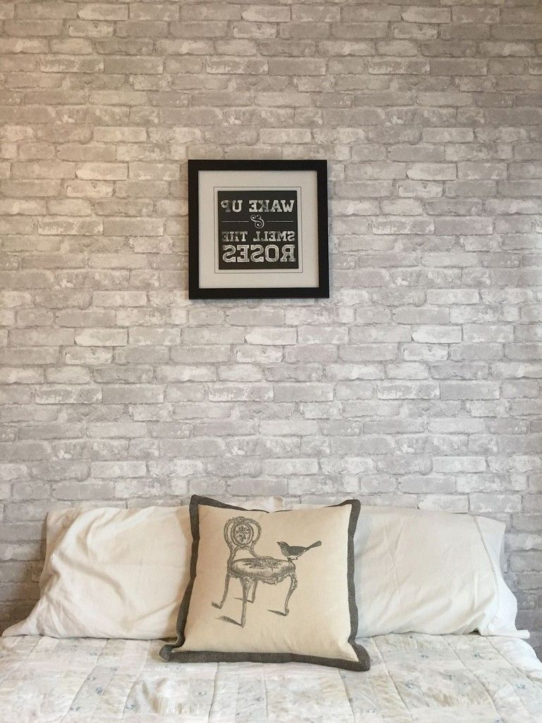 36 Comfy Master Bedroom Brick Wall Decoration Ideas Masterbedroom Bricks Walldecor Feature Wall Bedroom Brick Wall Bedroom Wallpaper Bedroom Feature Wall