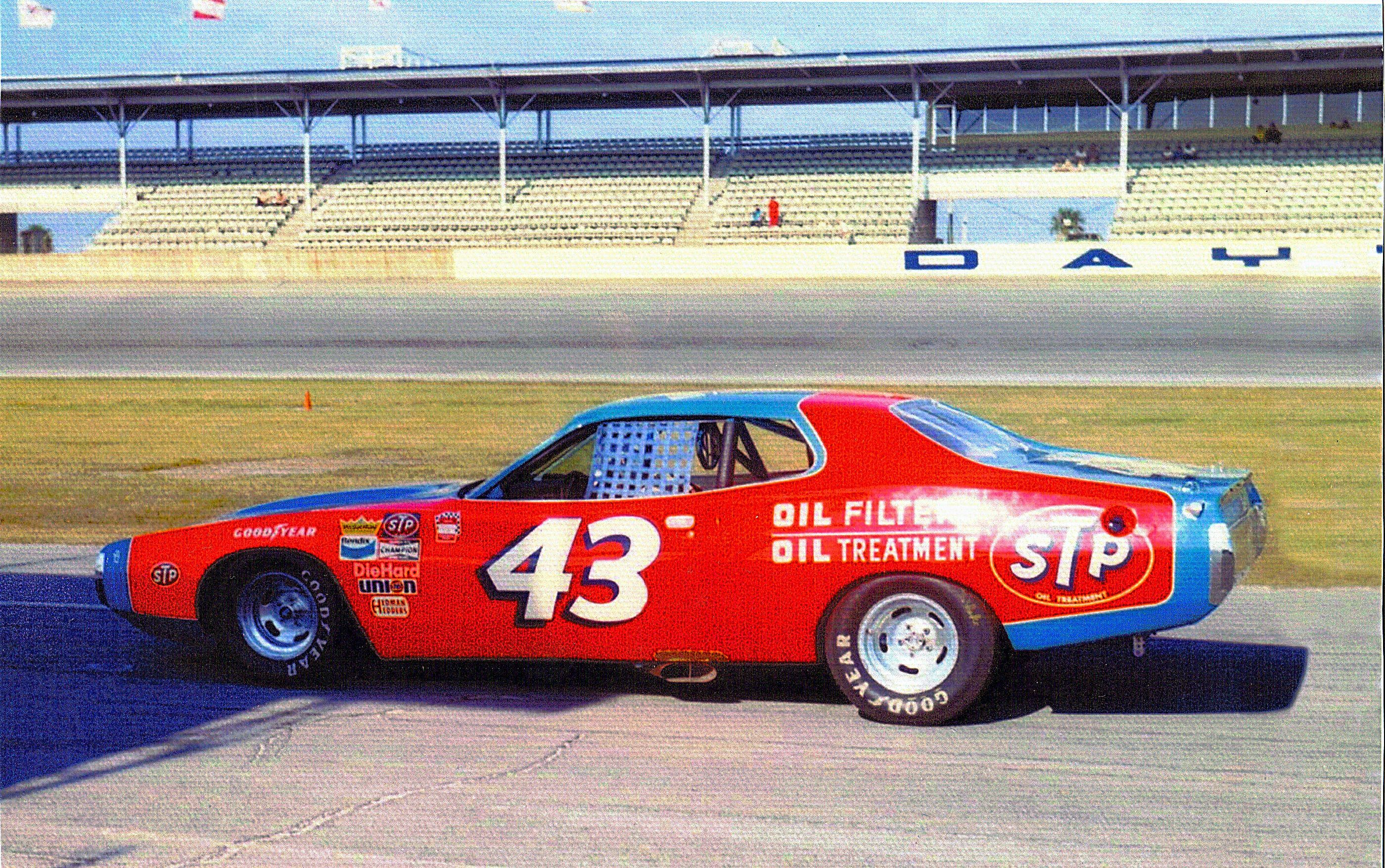 photos of buddy baker s stock cars 1973 STP CHARGER