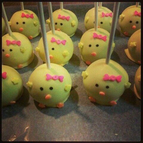 Cake pop chicks