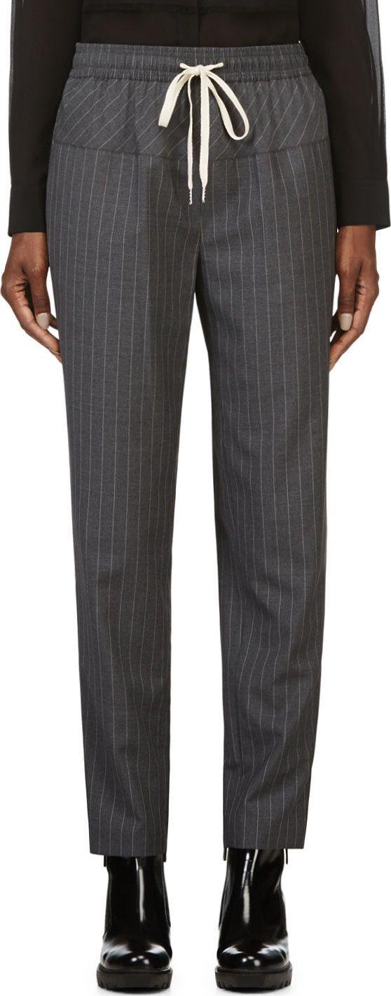 Great Grey  trousers. Love it Alexander Wang Grey Pin Stripe Wool Trousers