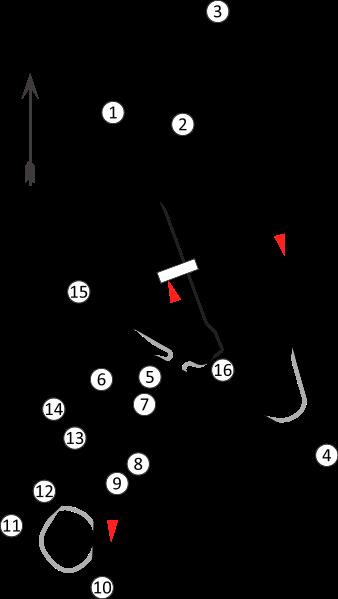 a scaled, orientated diagram of the jaypee international motor racing  circuit (since renamed the buddh international circuit), greater noida,  uttar pradesh,