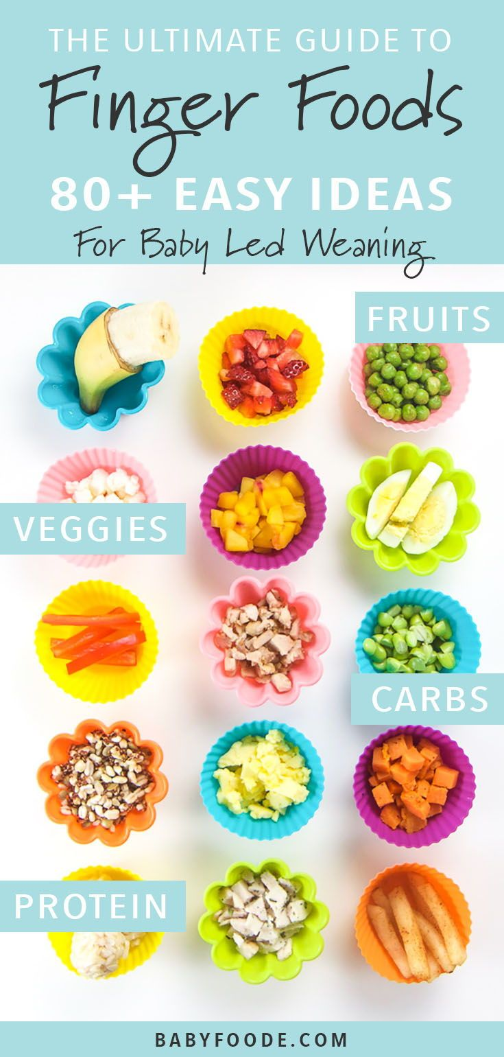 The Ultimate Guide to Finger Foods for Baby Led Weaning #toddlers