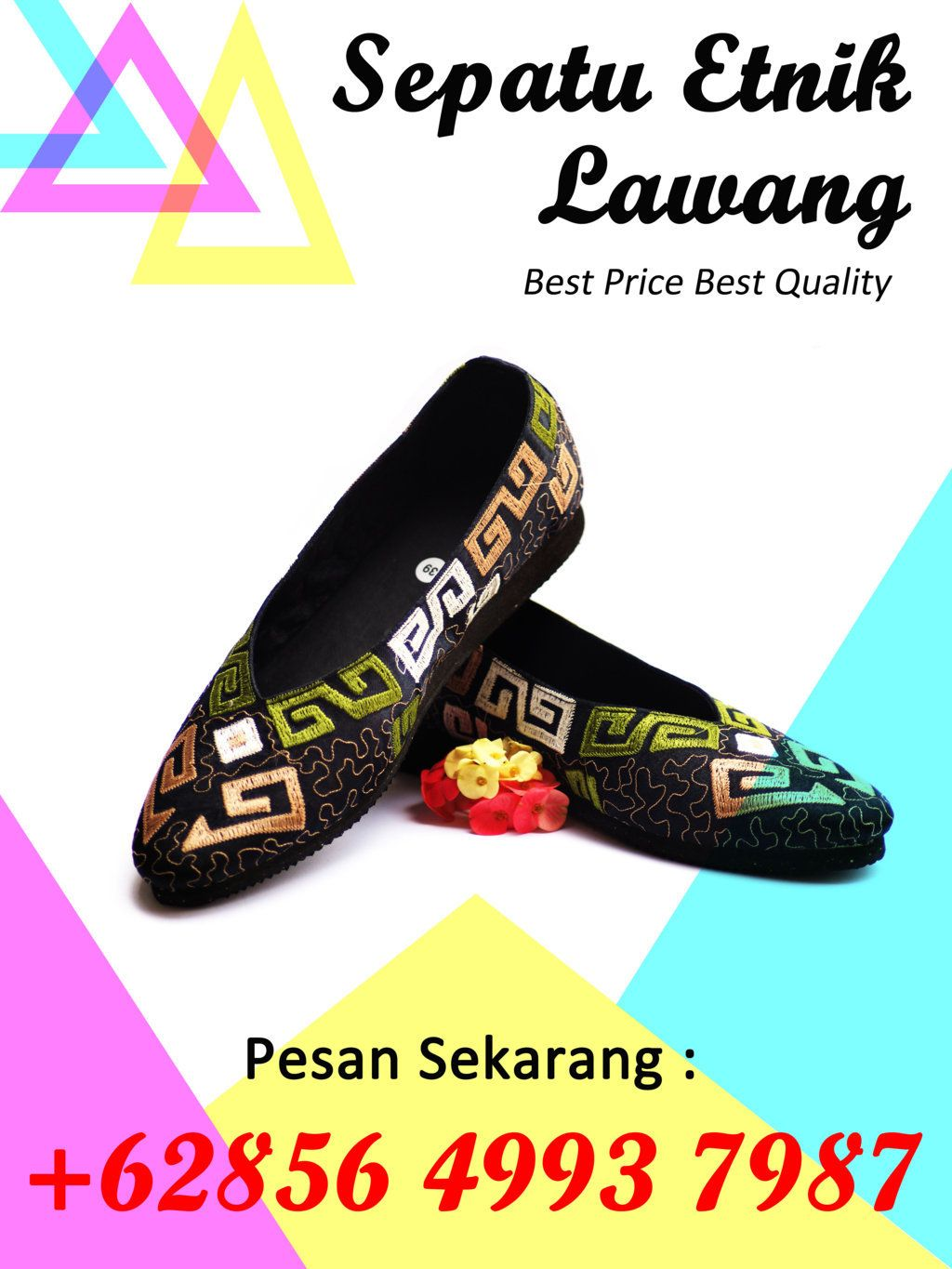 Flat Shoes Awet Bordir Lawang Flat Shoes Bahan Bordir Lawang